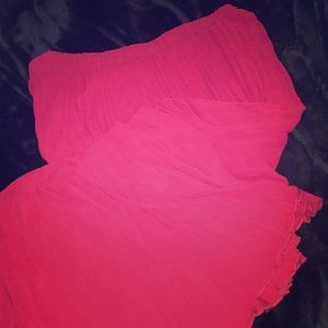 Torrid Red Pleated Maxi Skirt size 4